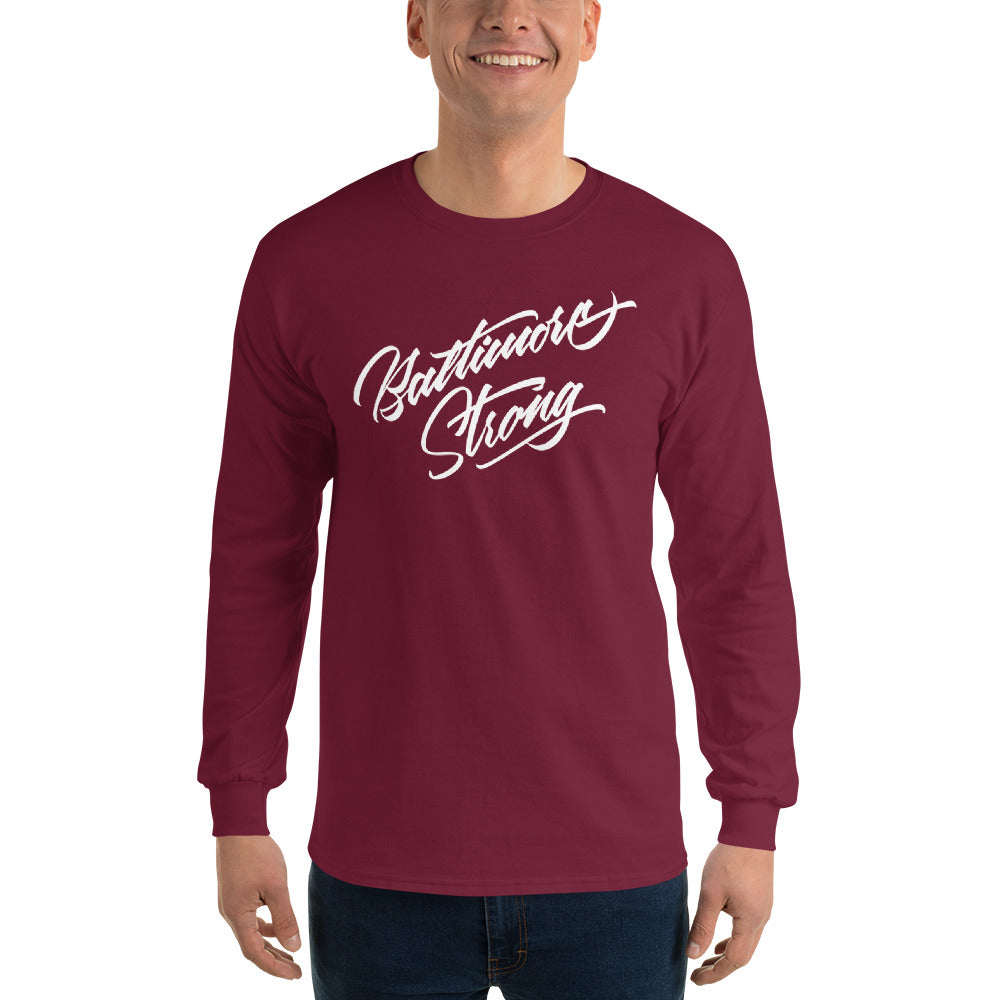 Baltimore Strong-Men's Long Sleeve Shirt-Maroon