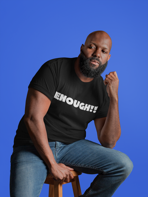 ENOUGH!! Short-Sleeve Unisex T-Shirt-Black