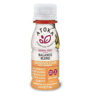 Atoka Herbal Shot Balance Blend  Lemongrass Ginger 2.5oz