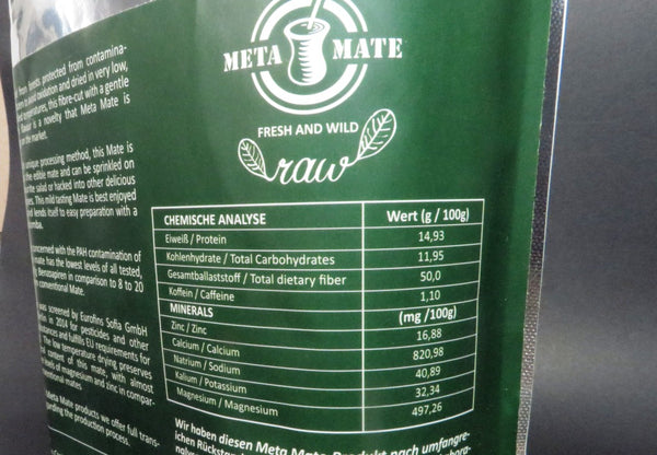 meta mate raw nutritional information