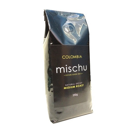 250g Mischu Natural Decaf Beans