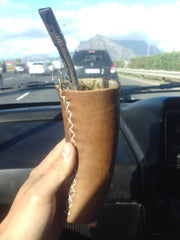 Leather Guampa Horn Cup