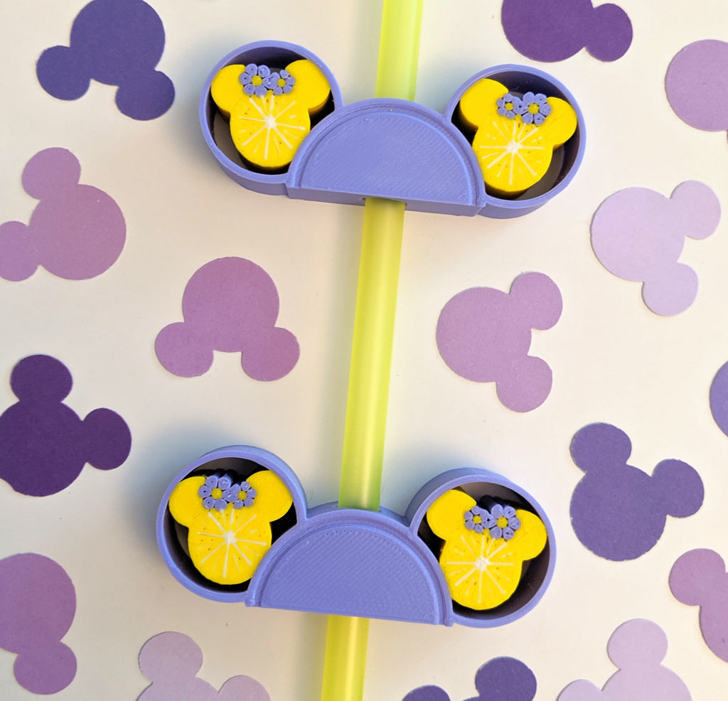 Violet Lemonade Straw Buddy