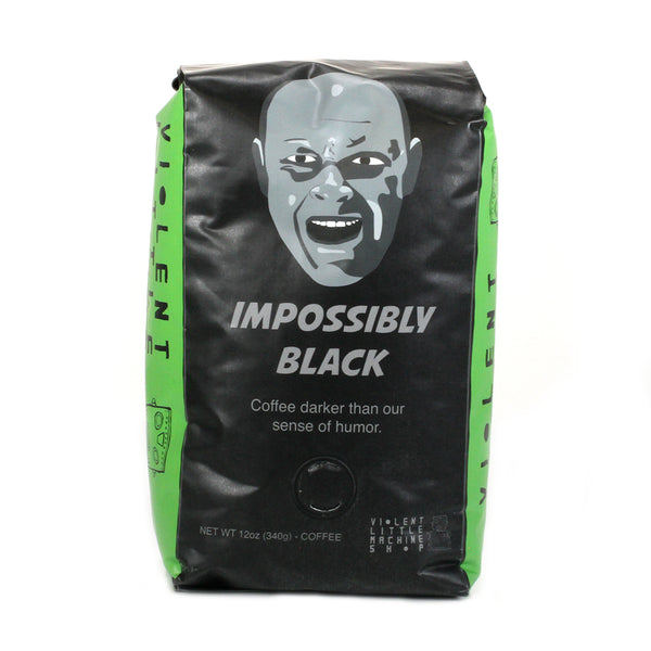 impossibly black coffee