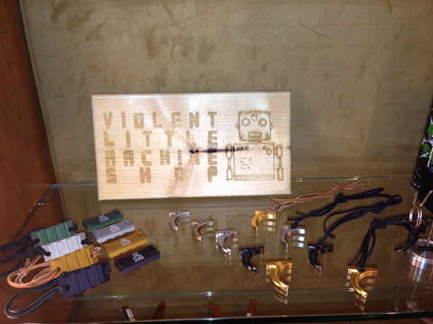 Violent Little Machin Shop's Silver Creek Outfitters Retail Display