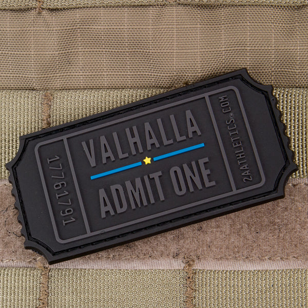 thin blue line valhalla admit one morale patch