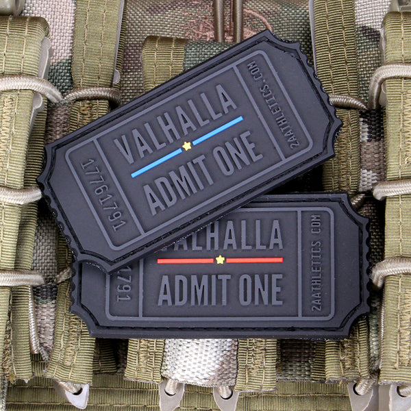 thin blue line and thin red line valhalla admit one morale patches