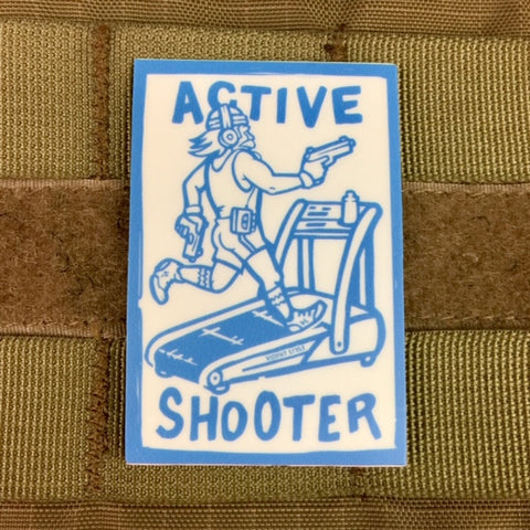 Active Shooter Sticker