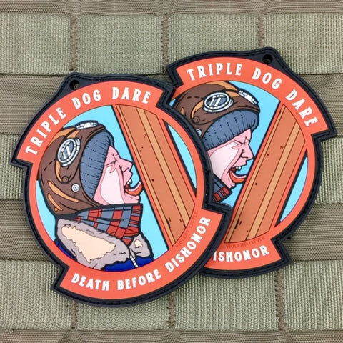 """Triple Dog Dare"" Christmas Story Morale Patch"