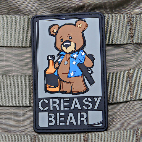 Creasy Bear Morale Patch full color