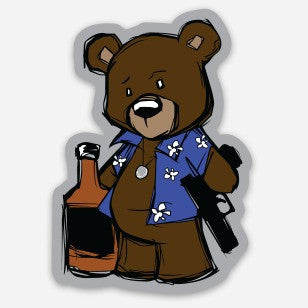 Creasy Bear Sticker