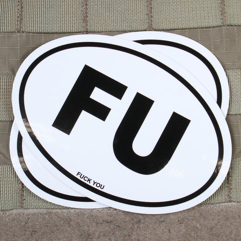 """Fuck You"" Oval Sticker"