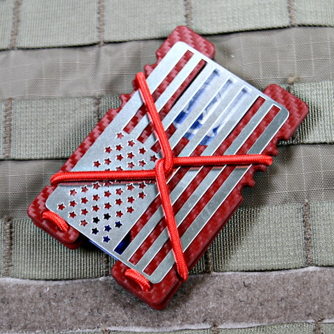 Kydex Shock Wallet -Red Carbon Fiber