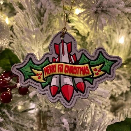 Merry F'n Christmas Missile Toe Morale Patch
