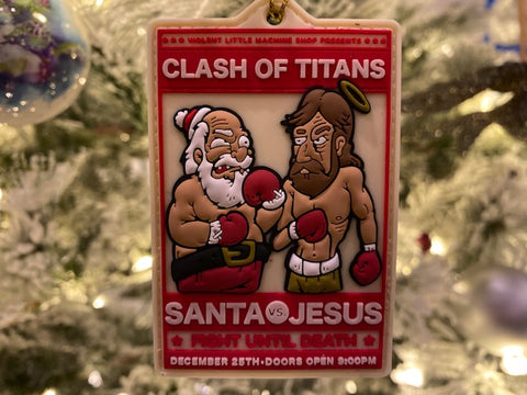 Clash Of Titans Santa Vs. Jesus Christmas Morale Patch