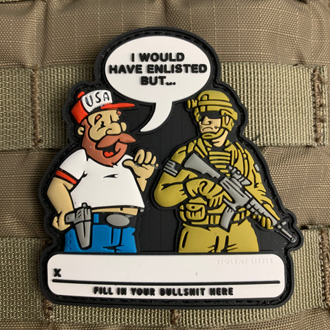 'I Would Have Enlisted... BUT' Morale Patch