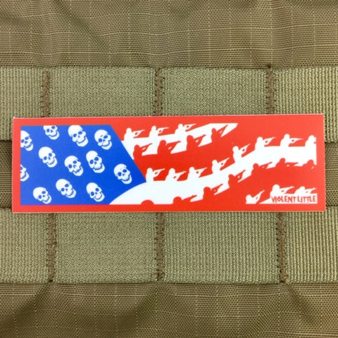 """Great Satan"" American Flag Sticker"