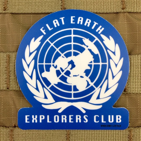 Flat Earth Explorers Club Sticker
