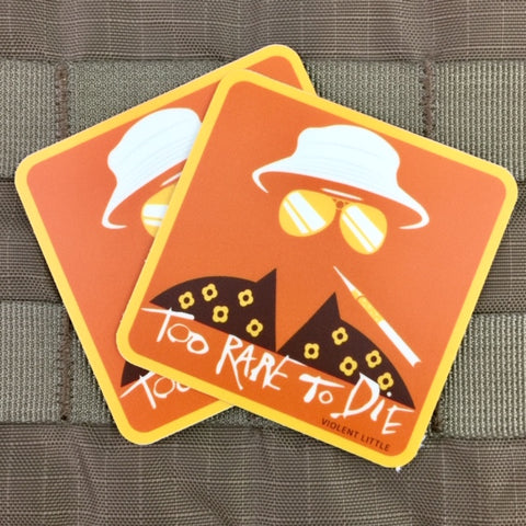 """Too Rare To Die"" Hunter S. Thompson Sticker"