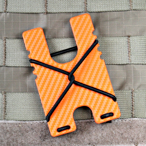 Kydex Shock Wallet -Orange Carbon Fiber