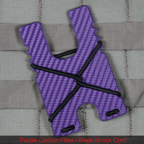 Kydex Shock Wallet - Purple Carbon Fiber