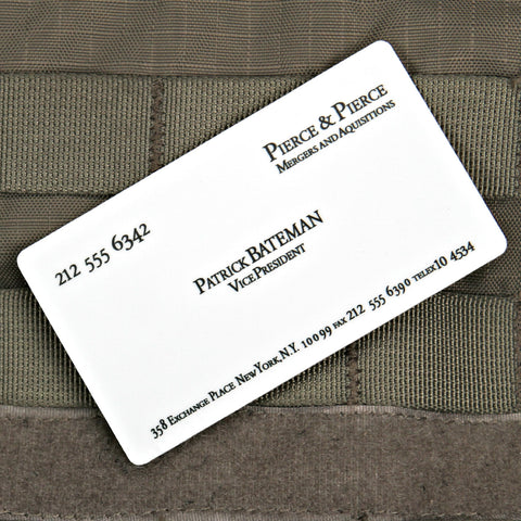 Patrick Bateman Business Card Sticker