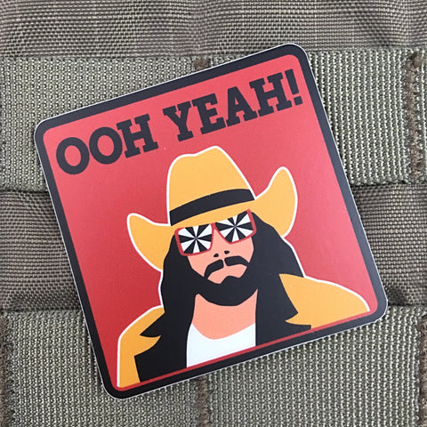 "Macho Man ""OOH YEAH!"" Sticker"