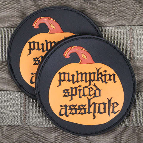"""Pumpkin Spiced Asshole"" 2017 Limited Edition Morale Patch"