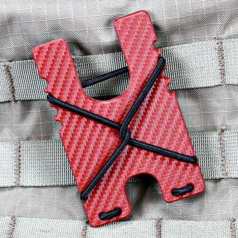 Kydex Shock Wallet - Red Carbon Fiber