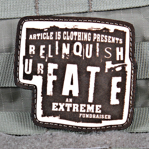 Relinquish U R Fate Charity Patch