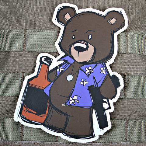 Large Creasy Bear Sticker