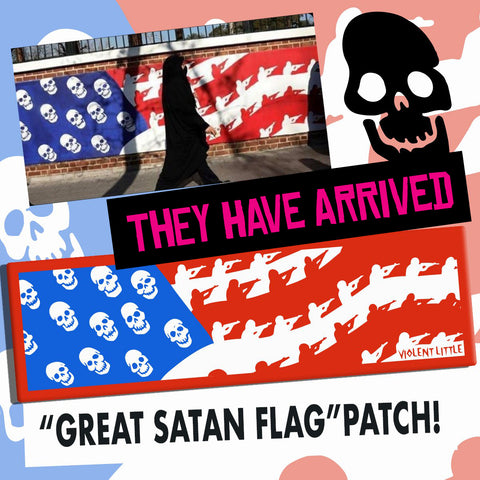 """Great Satan"" American Flag Morale Patch"