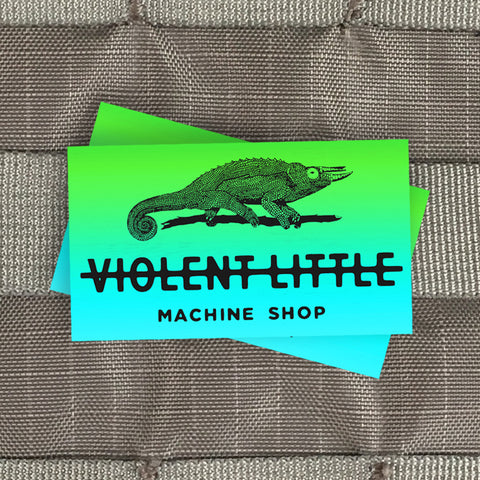 Violent Little Chameleon Sticker