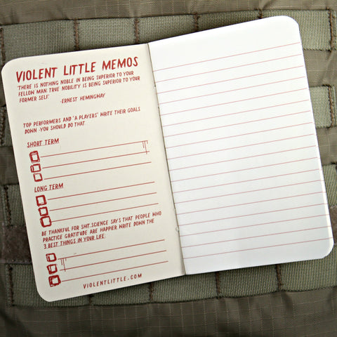Violent Little Memo Notebooks
