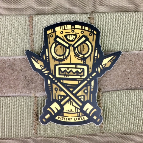 Violent Little War Tiki Sticker