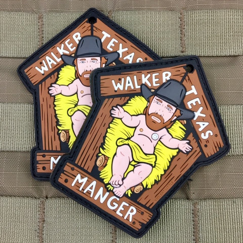 Walker, Texas Manger Christmas Morale Patch