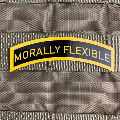 Morally Flexible Sticker
