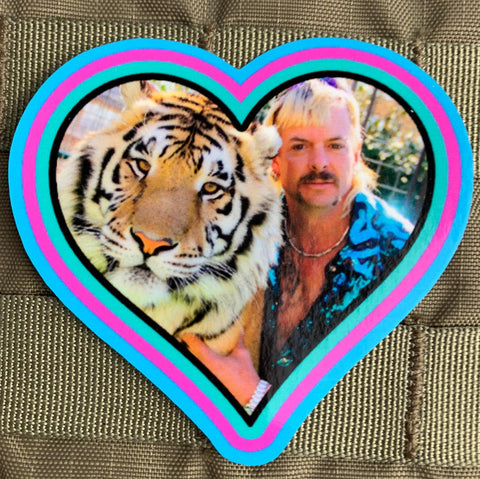 """Heart of the Tiger King"" Sticker"