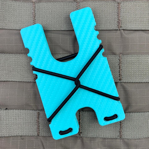Kydex Shock Wallet - Light Blue Carbon Fiber