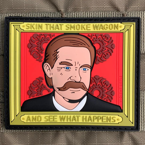 """Skin that Smoke Wagon"" Tombstone Patch"