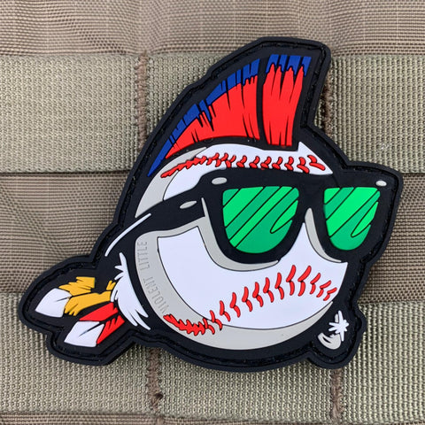 """Major League Mohawk"" PVC Patch"