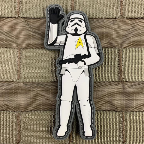 Storm-trooper Trekkie PVC Patch