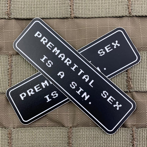 """Premarital Sex is a Sin"" Sticker"