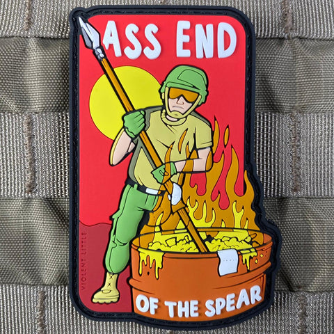 """Ass End of the Spear"" PVC Patch"
