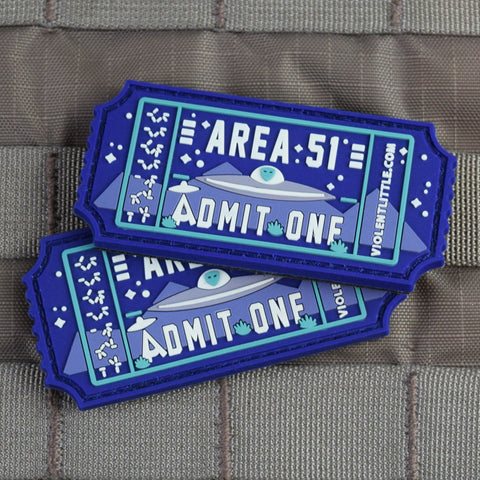 Area 51 Admit One Morale Patch