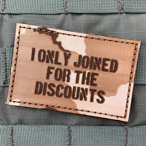 """I Only Joined For The Discounts"" Morale Patch"