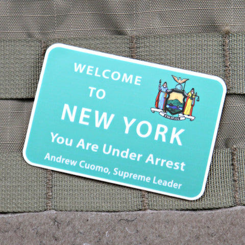 You Are Under Arrest NY Sticker