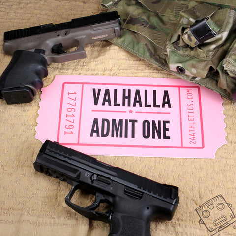 Huge Valhalla Admit One Stickers