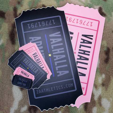 Valhalla Admit One Sticker