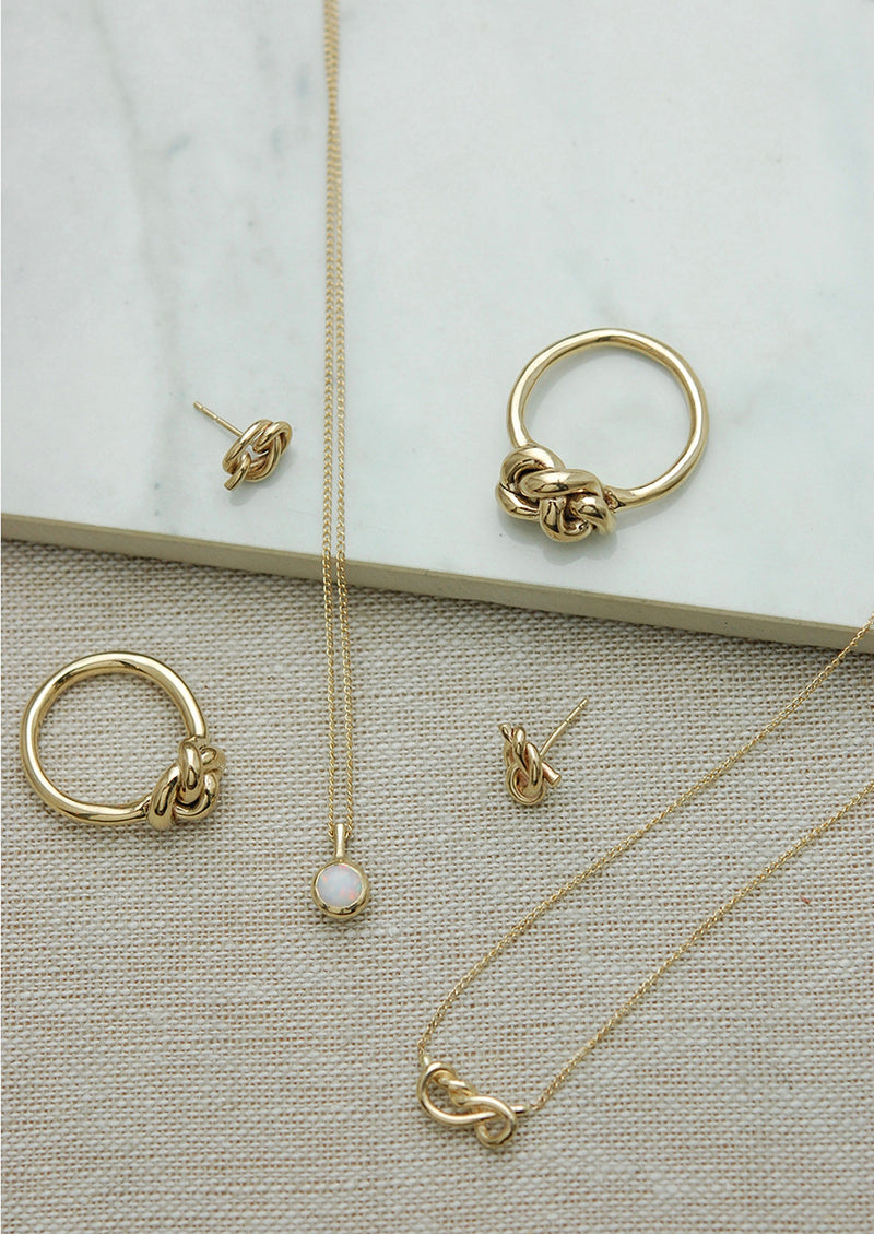 Knot Earrings // 14k Gold